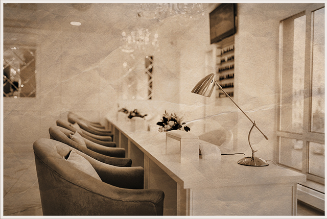 nail salon empy blue chairs_shutterstock_1431099449_lowres_HISTORICAL_SEPIA